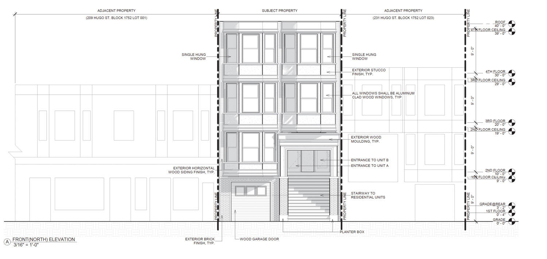 217 Hugo Street, elevation by Ice Design Inc