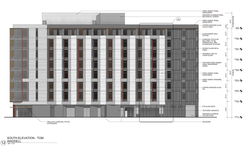 240 Van Ness Avenue south elevation, design by WRNS Studios