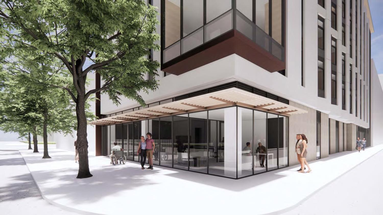 240 Van Ness Avenue street view, rendering by WRNS Studios