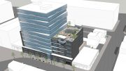 2424 Webster Street birdseye view, rendering by Flynn Architecture