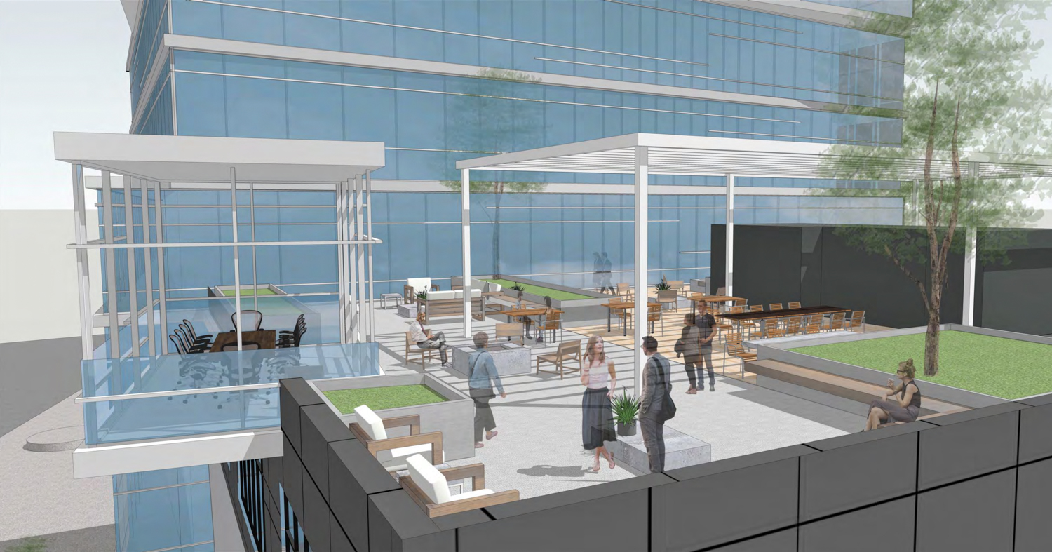 2424 Webster Street roof deck, rendering by Flynn Architecture