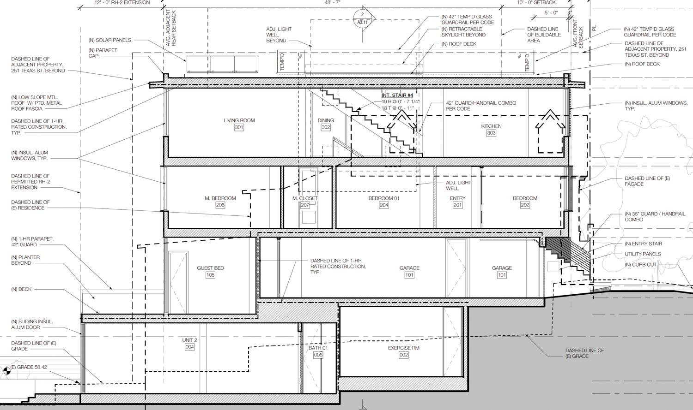 249 Texas Street, elevation John Maniscalco Architecture