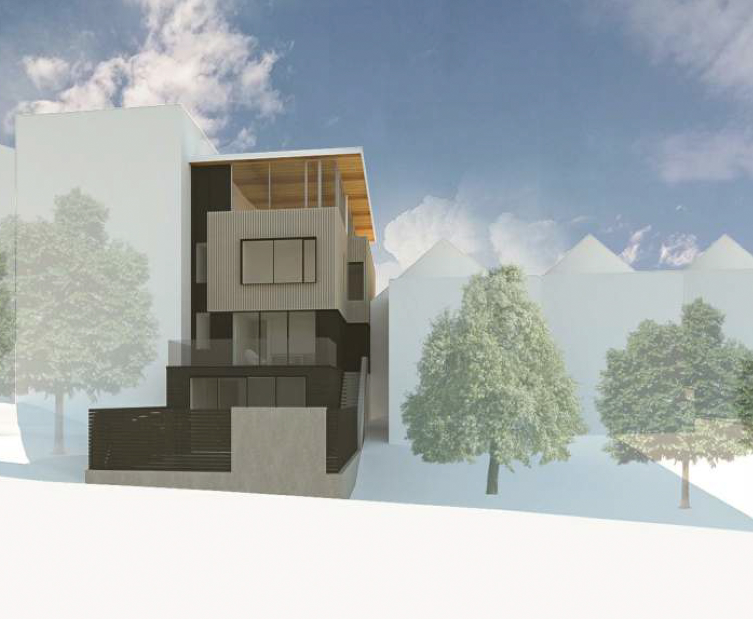 249 Texas Street rear-view isolated, rendering from John Maniscalco Architecture