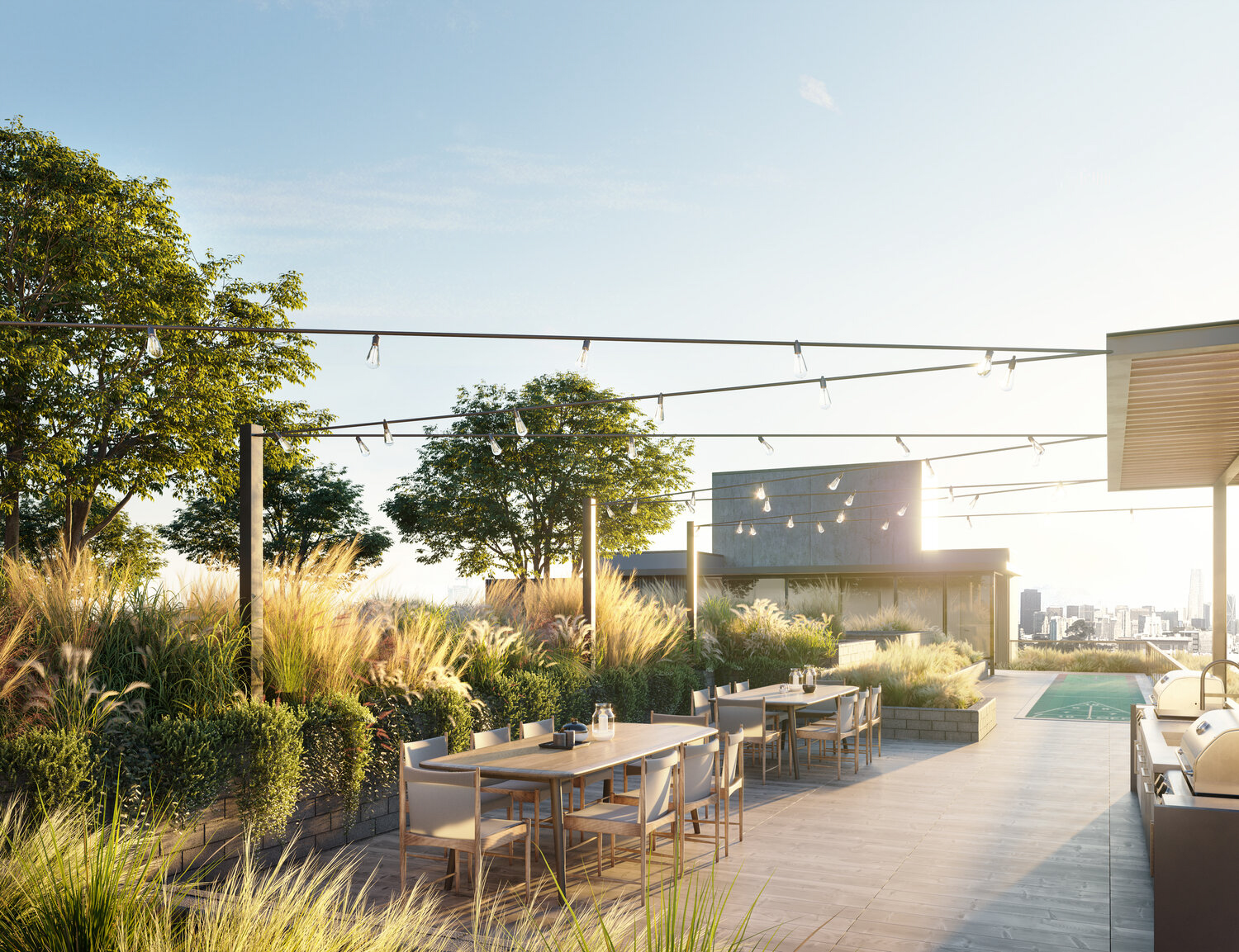 2750 19th Street rooftop, rendering by Perry Architects