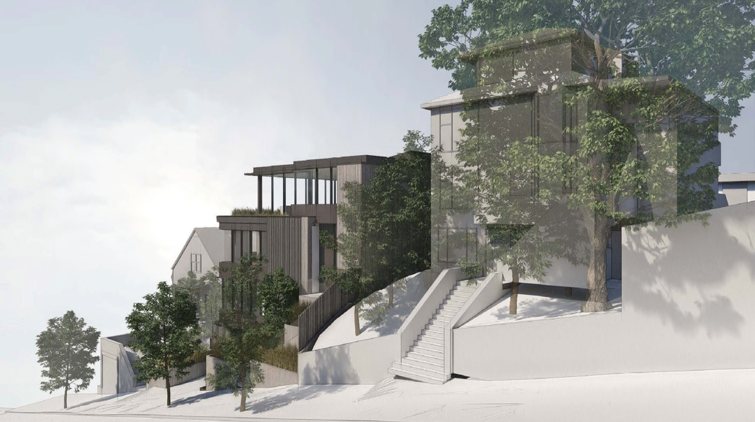 3669 21st Street side view, rendering by John Maniscalco Architecture