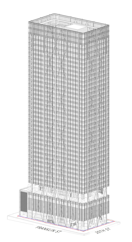 415 20th Street northeast vertical elevation, design by Pickard Chilton