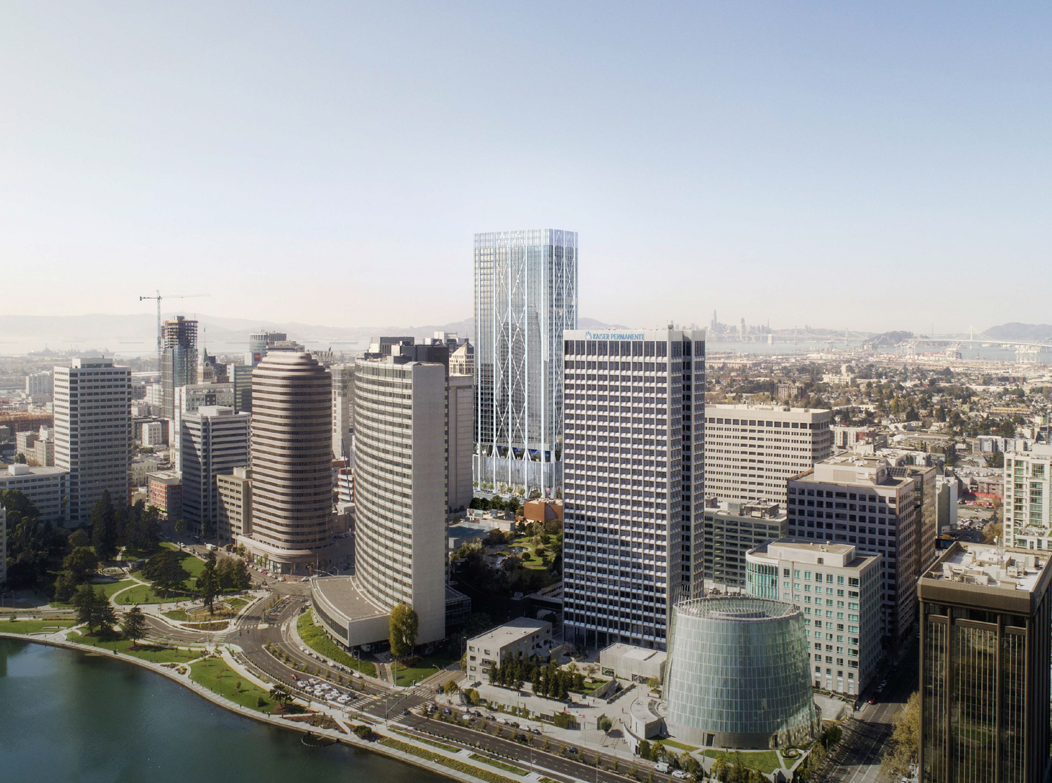 415 20th Street situated in the existing Oakland skyline, design by Pickard Chilton