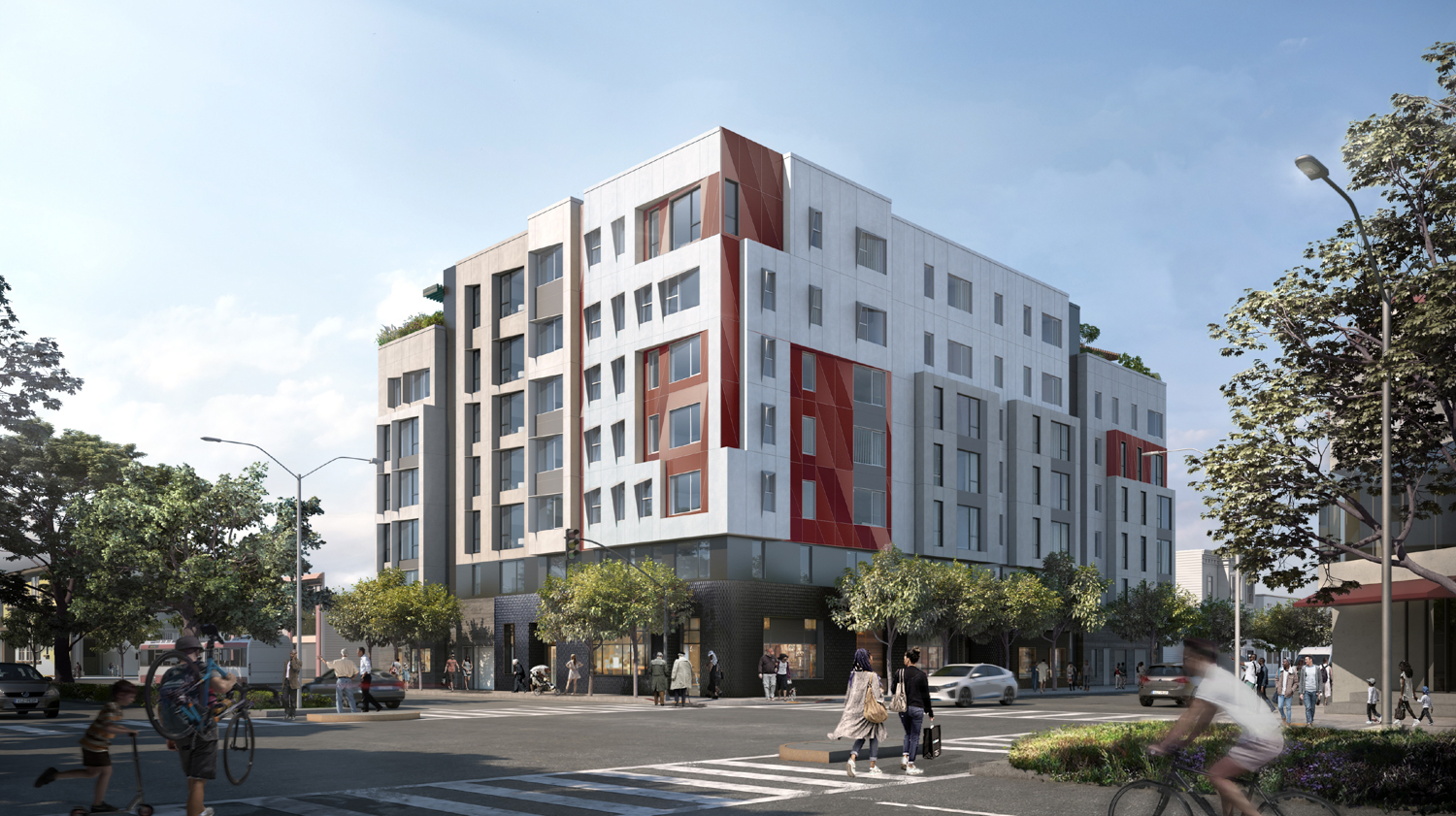 4200 Geary Boulevard, rendering courtesy TNDC