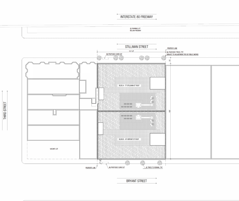 474 Bryant Street and 77 Stillman Street floor plan, design by Woods Bagot