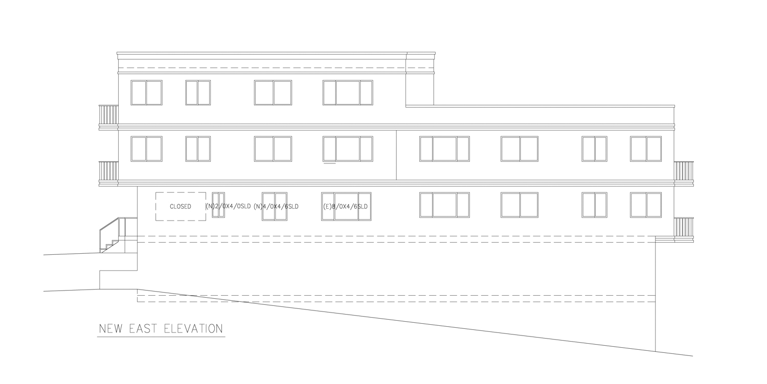 550 27th Street elevation, drawing by ZoneDesign Development
