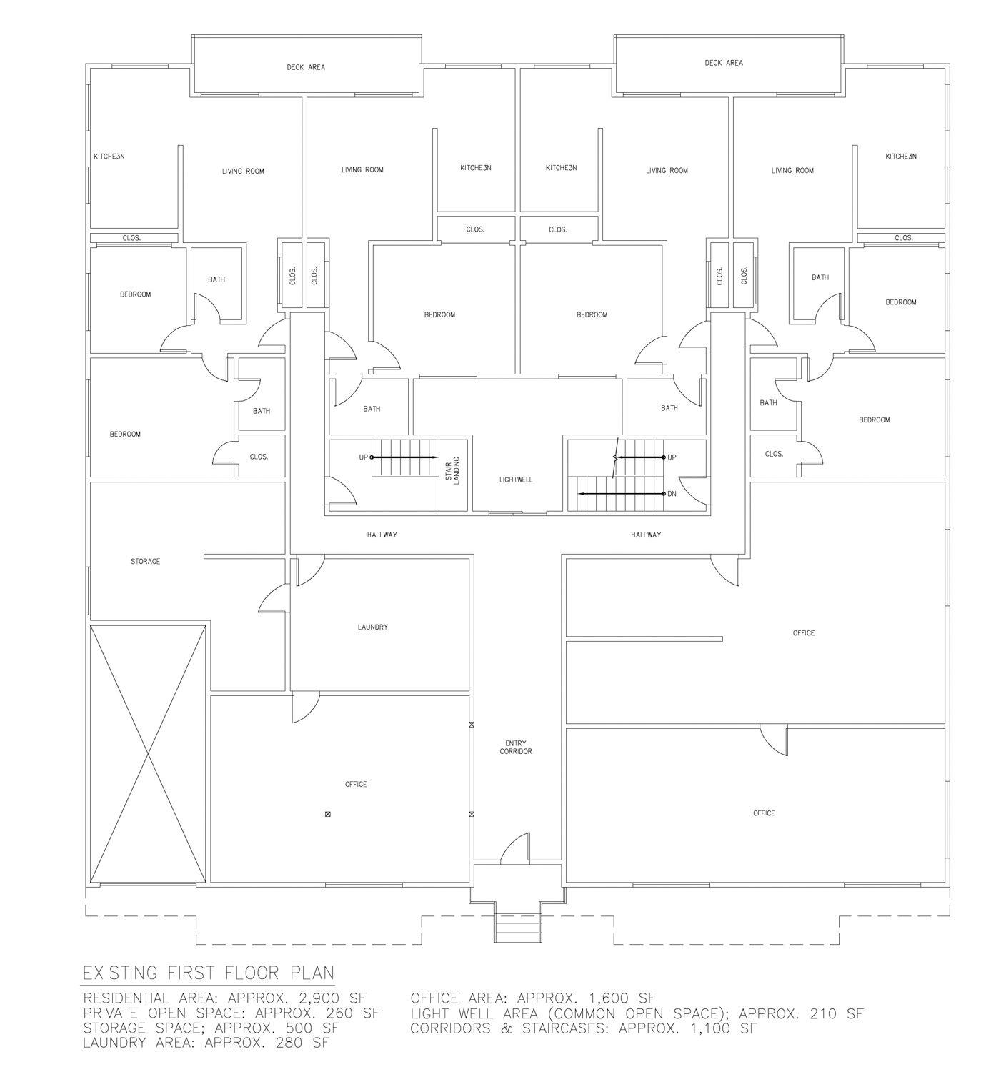 550 27th Street existing first-floor, drawing by ZoneDesign Development