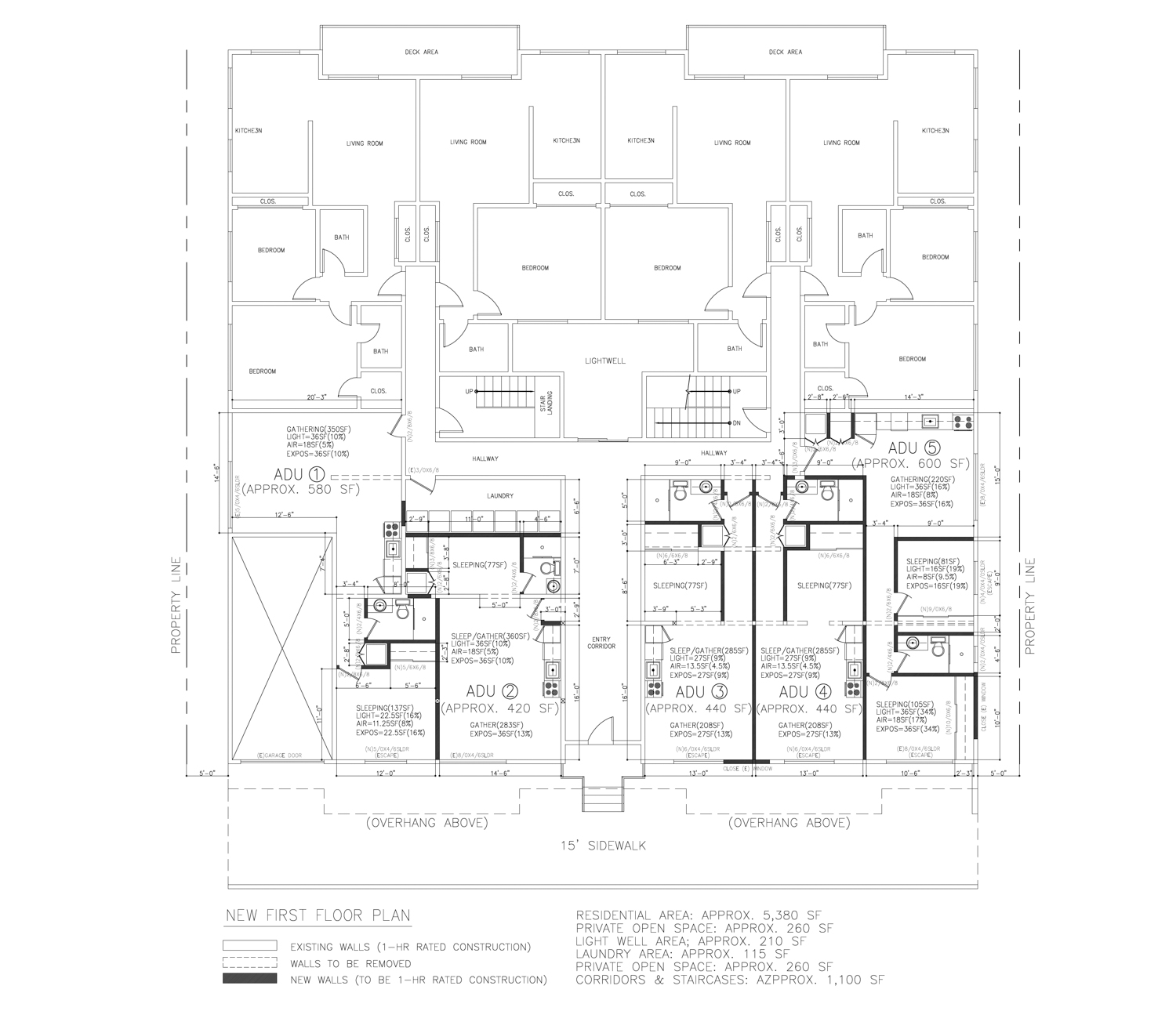 550 27th Street proposed first-floor, drawing by ZoneDesign Development
