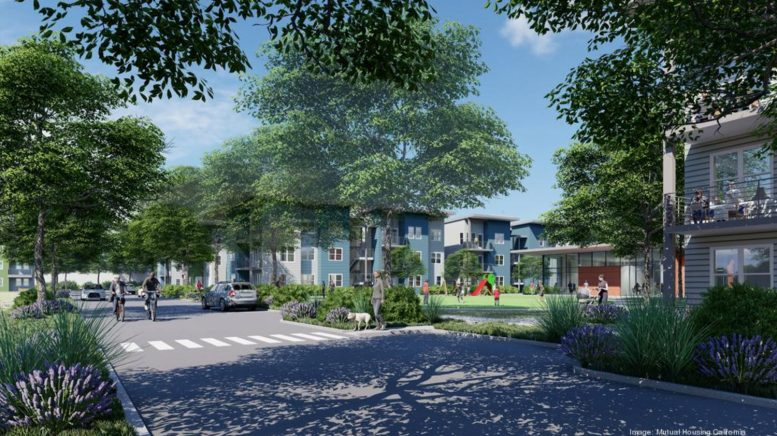 5700 Stockton Boulevard, rendering by Mutual Housing via Business Journal