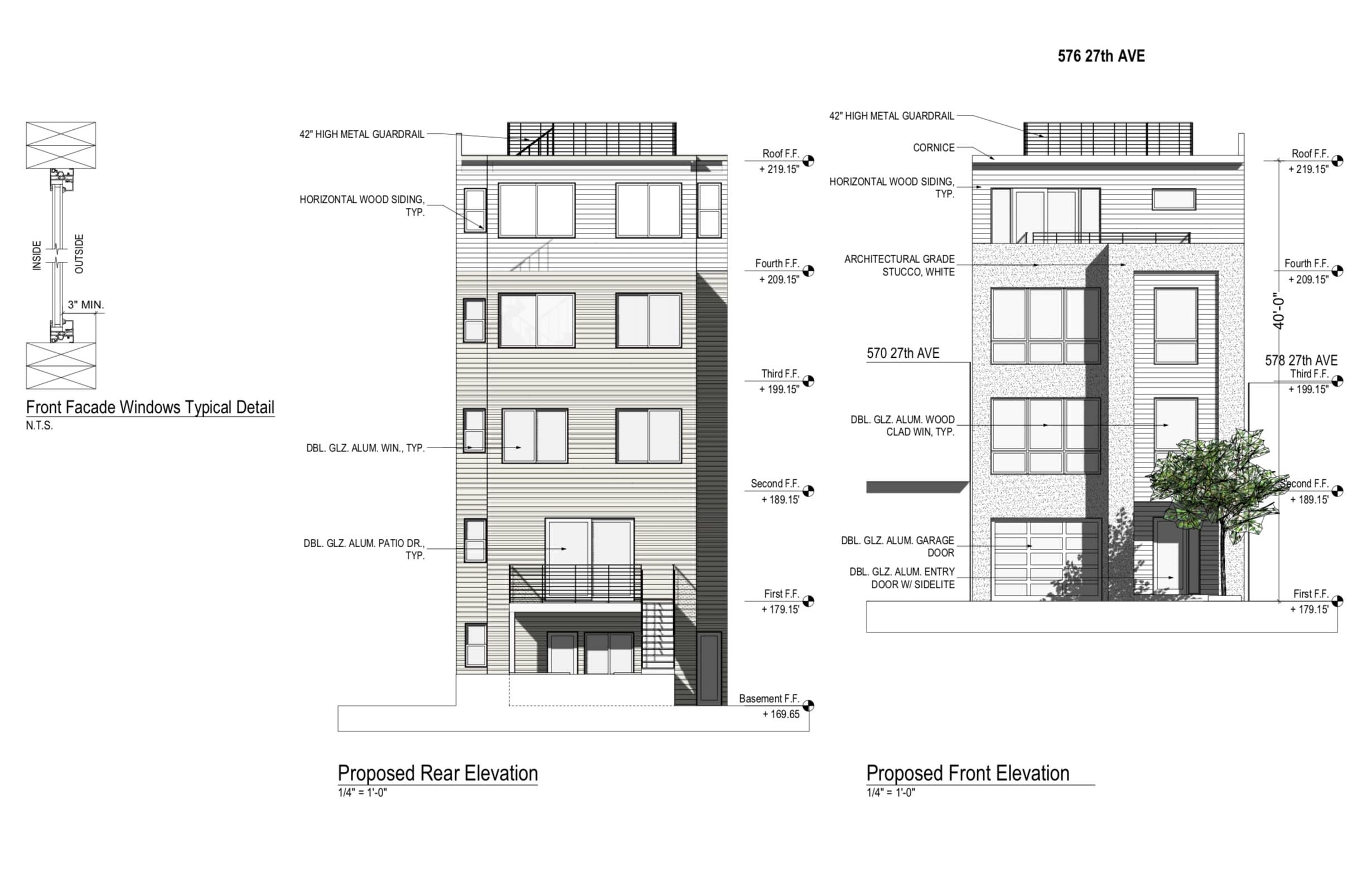 576 27th Avenue Proposed Elevations