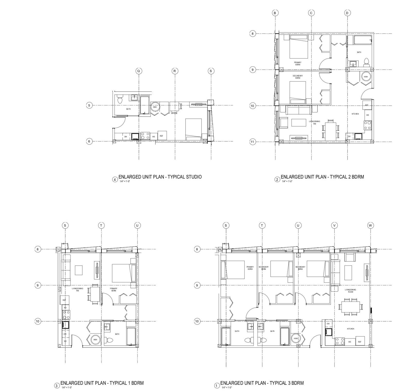 730 Stanyan Street Enlarged Floor Plans