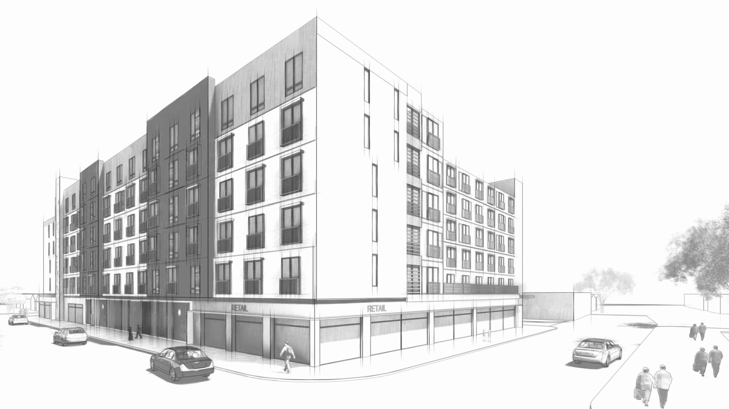 802 South 1st Street between East Virginia Street and South 1st Street, illustration via AO Architects