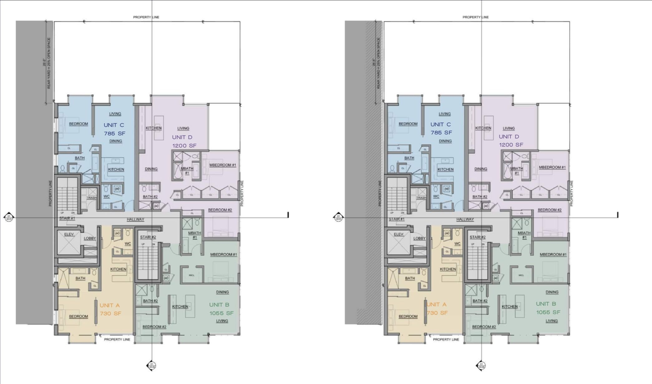 842 California Street Floor Plans 3rd and 4th
