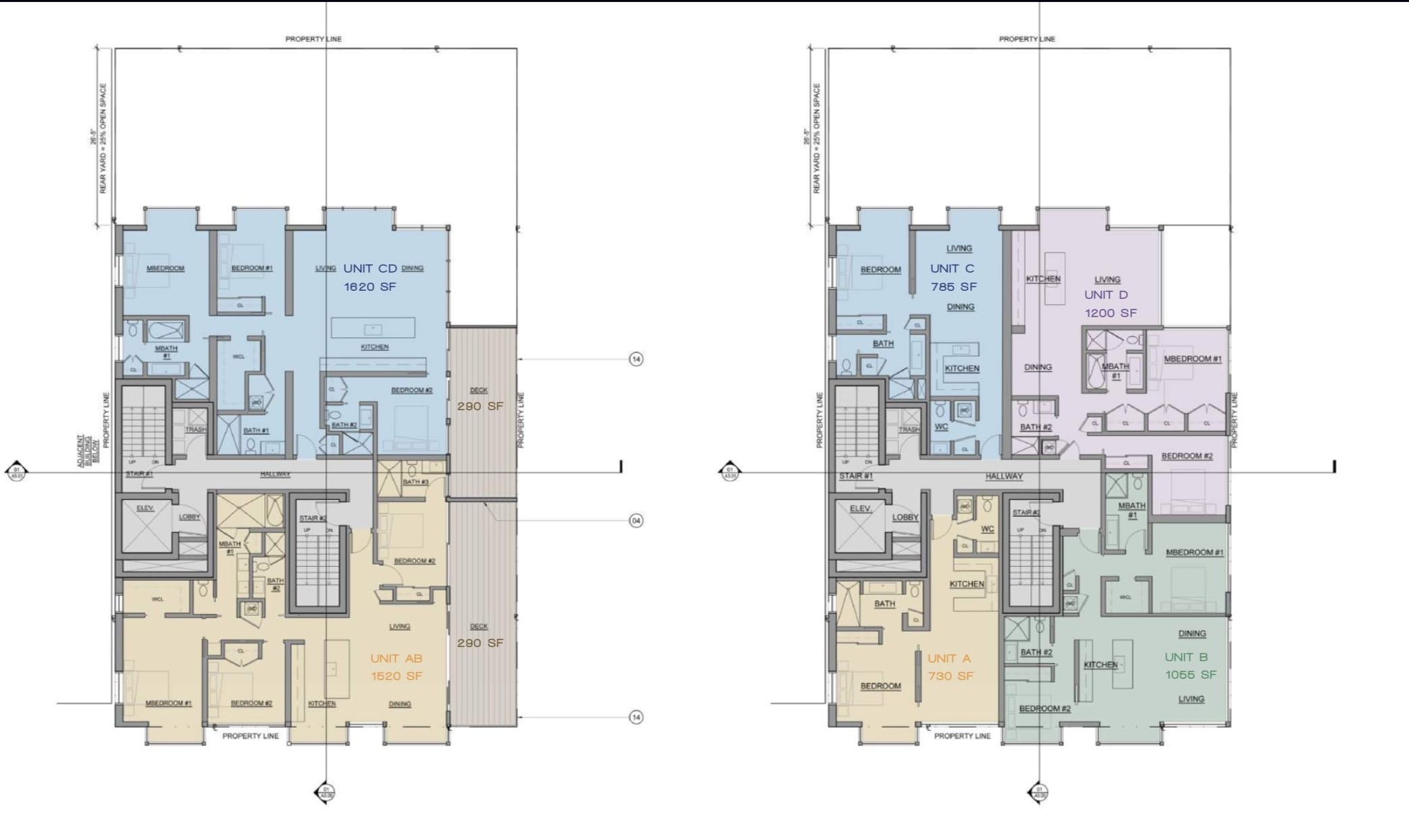 842 California St Floor Plans 5th and 6th