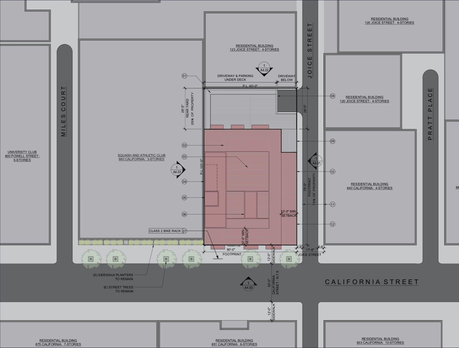 842 California St Site Plan