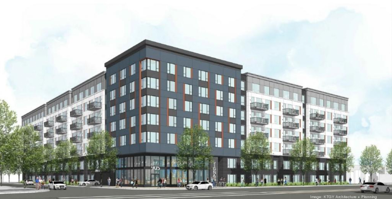 905 North Capitol Avenue, rendering by KTGY Architectures via Business Journal
