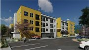 Klotz Ranch Apartments in Sacramento, rendering by Kephart Architects