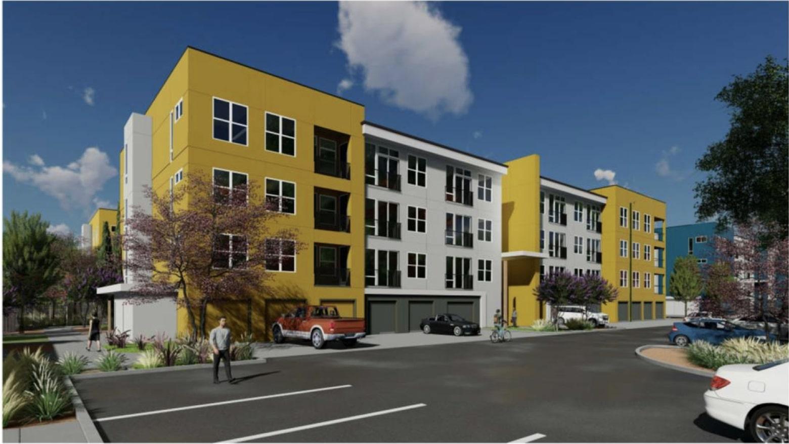 Klotz Ranch Apartments in Sacramento, rendering by Kephart Architects