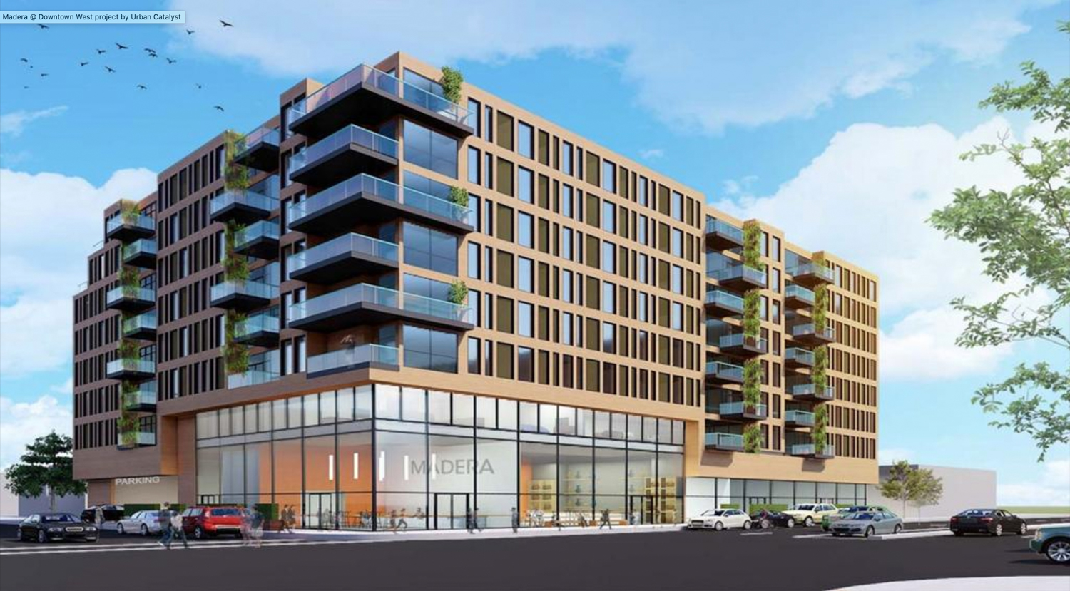 Alternative design rendering from Summer of 486 West San Carlos Street, imgae courtesy Aedis Architects