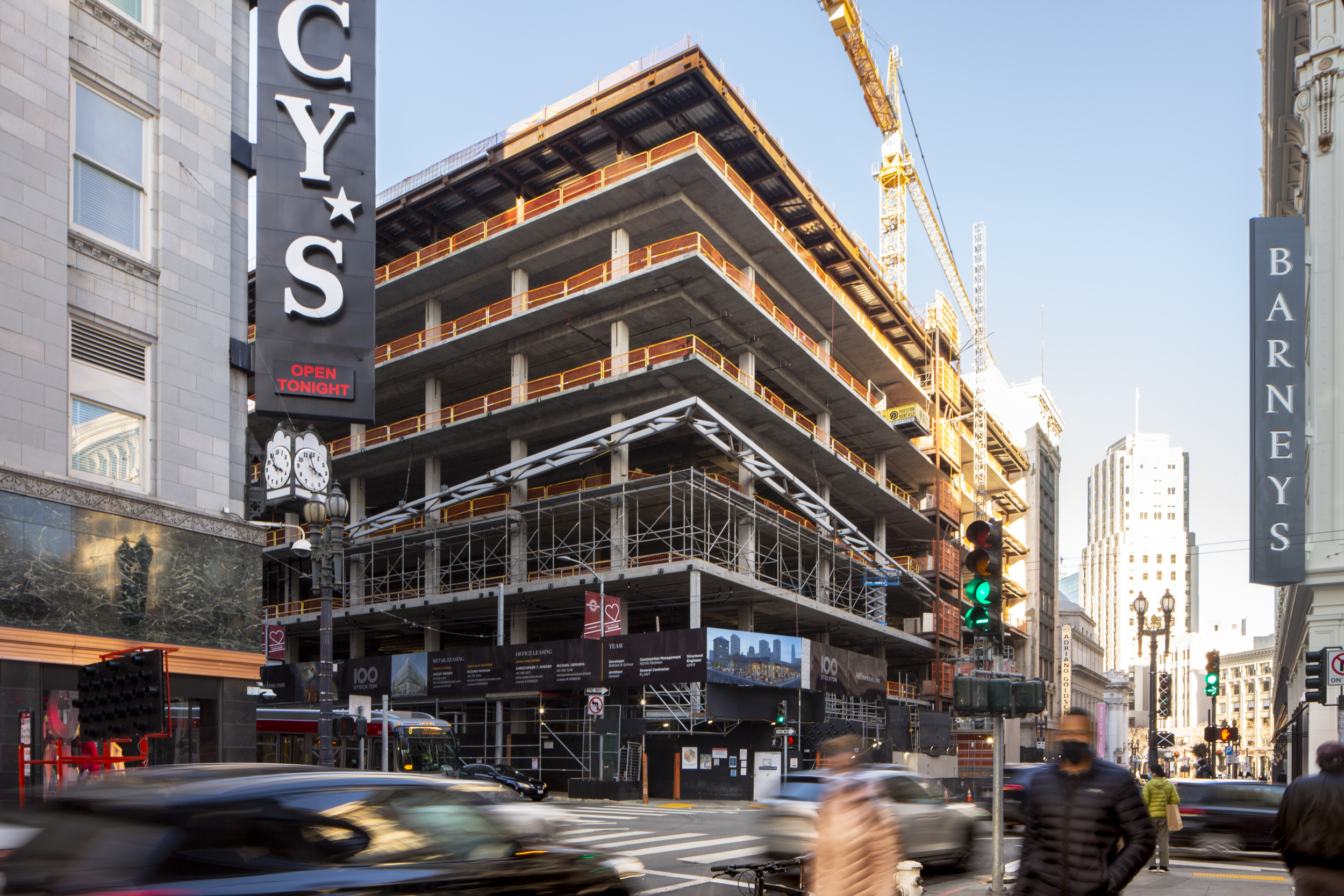 Construction update for 100 Stockton Street, image by Andrew Campbell Nelson
