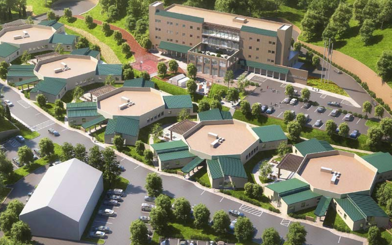 Cordilleras Health Facility at 200 Edmonds Road, rendering courtesy County of San Mateo