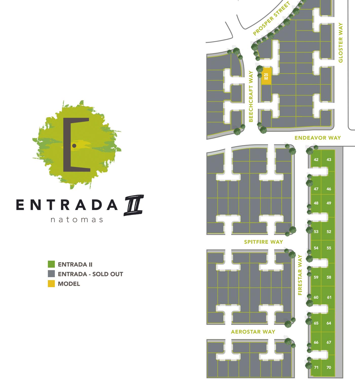 Entrada II development map, map courtesy Signature Homes