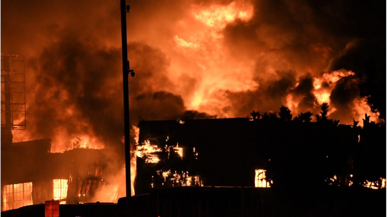 Fire of 16 Toland Street, image via KTVU