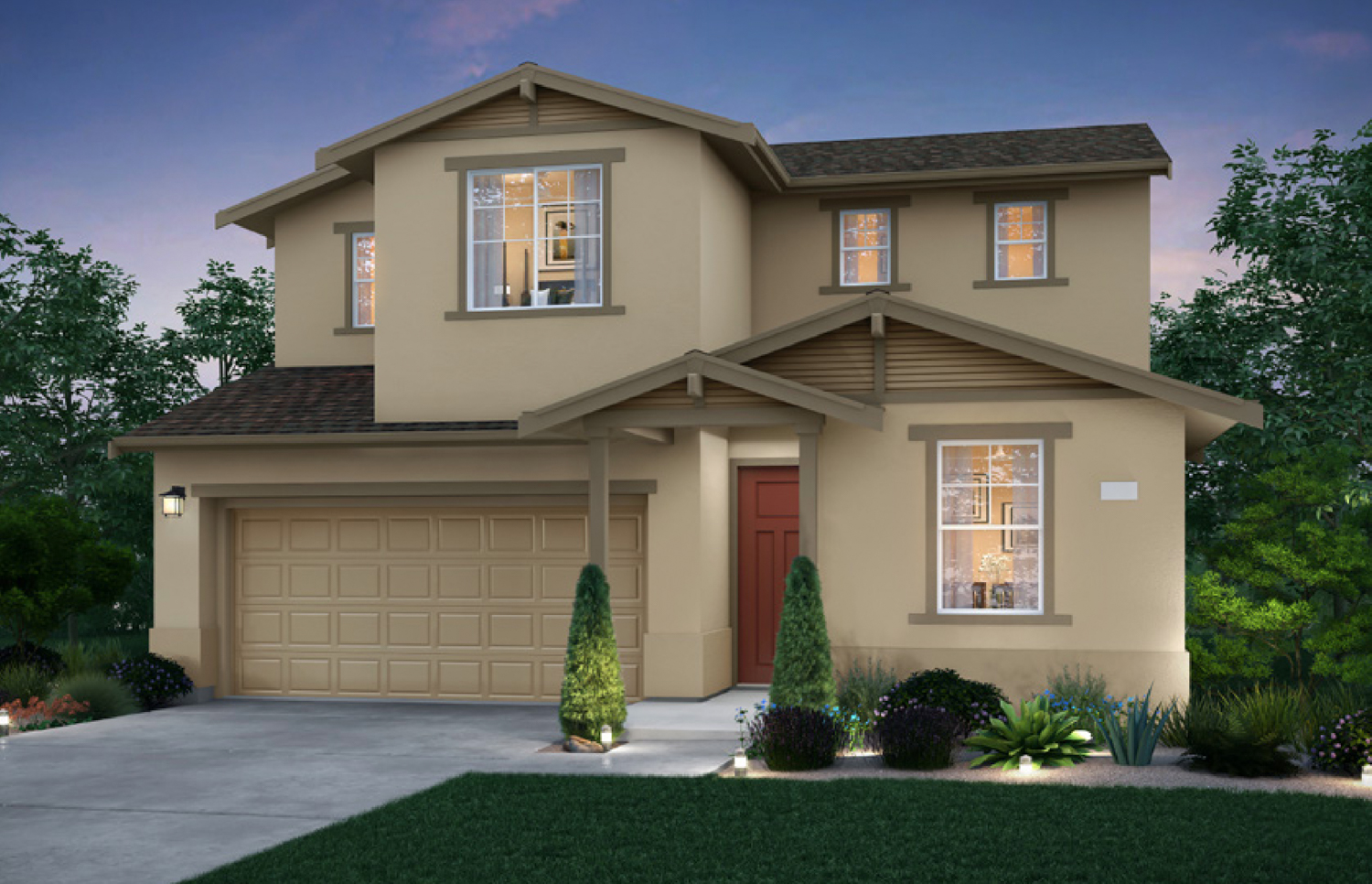 Firestar Way at Entrada II development Elevation C, rendering courtesy Signature Homes