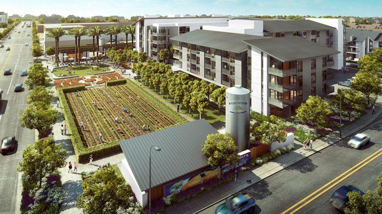 Agrihood central amenities, rendering by Steingberg Hart