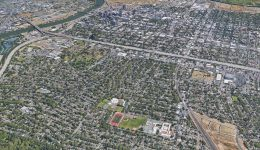 The Land Park neighborhood, a single-family zoned neighborhood separated from Downtown Sacramento by a wide-laned freeway specifically mentioned by the city Mayor, image via Google Street View