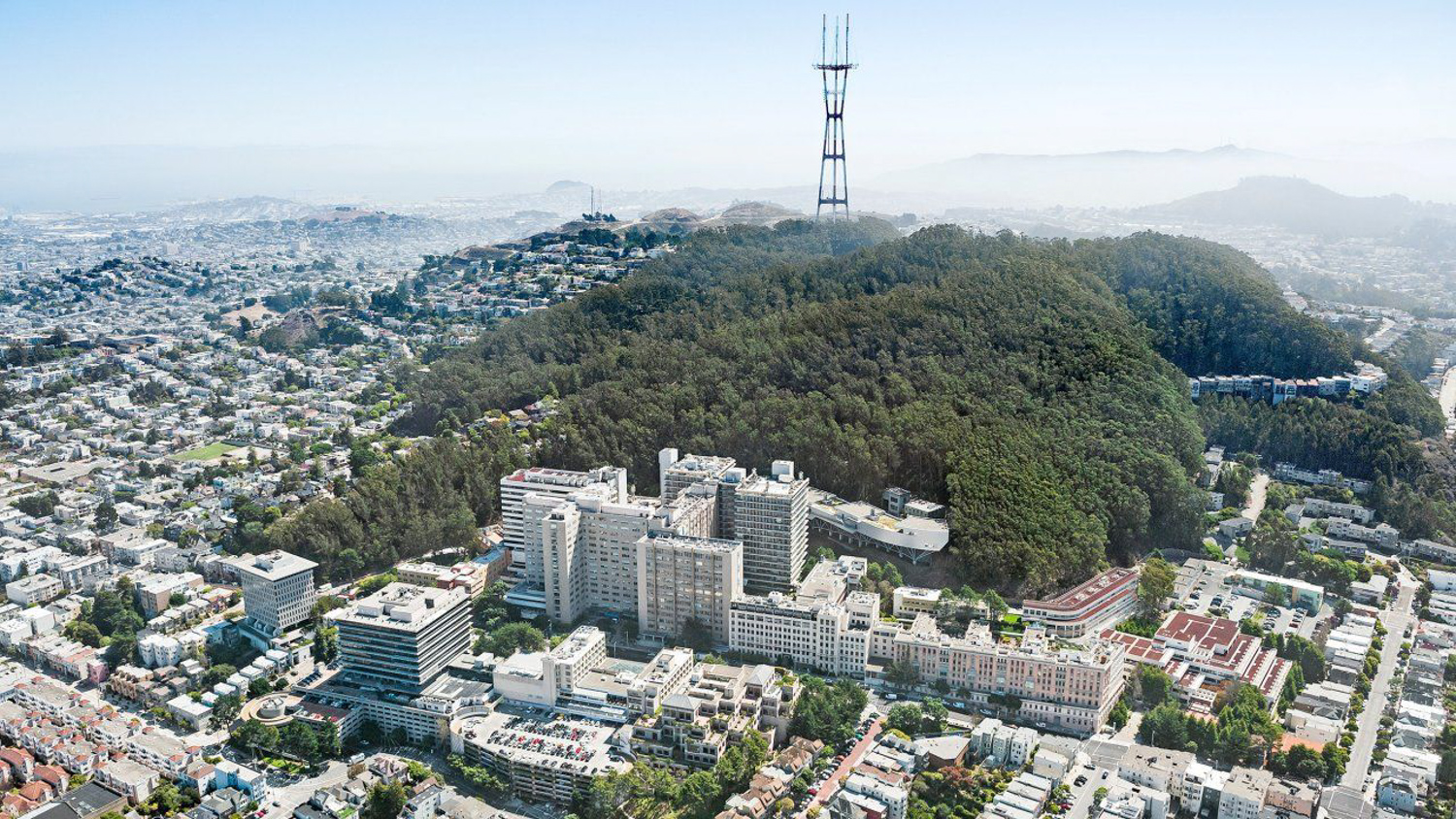 UCSF Parnassus Heights campus, image via UCSF