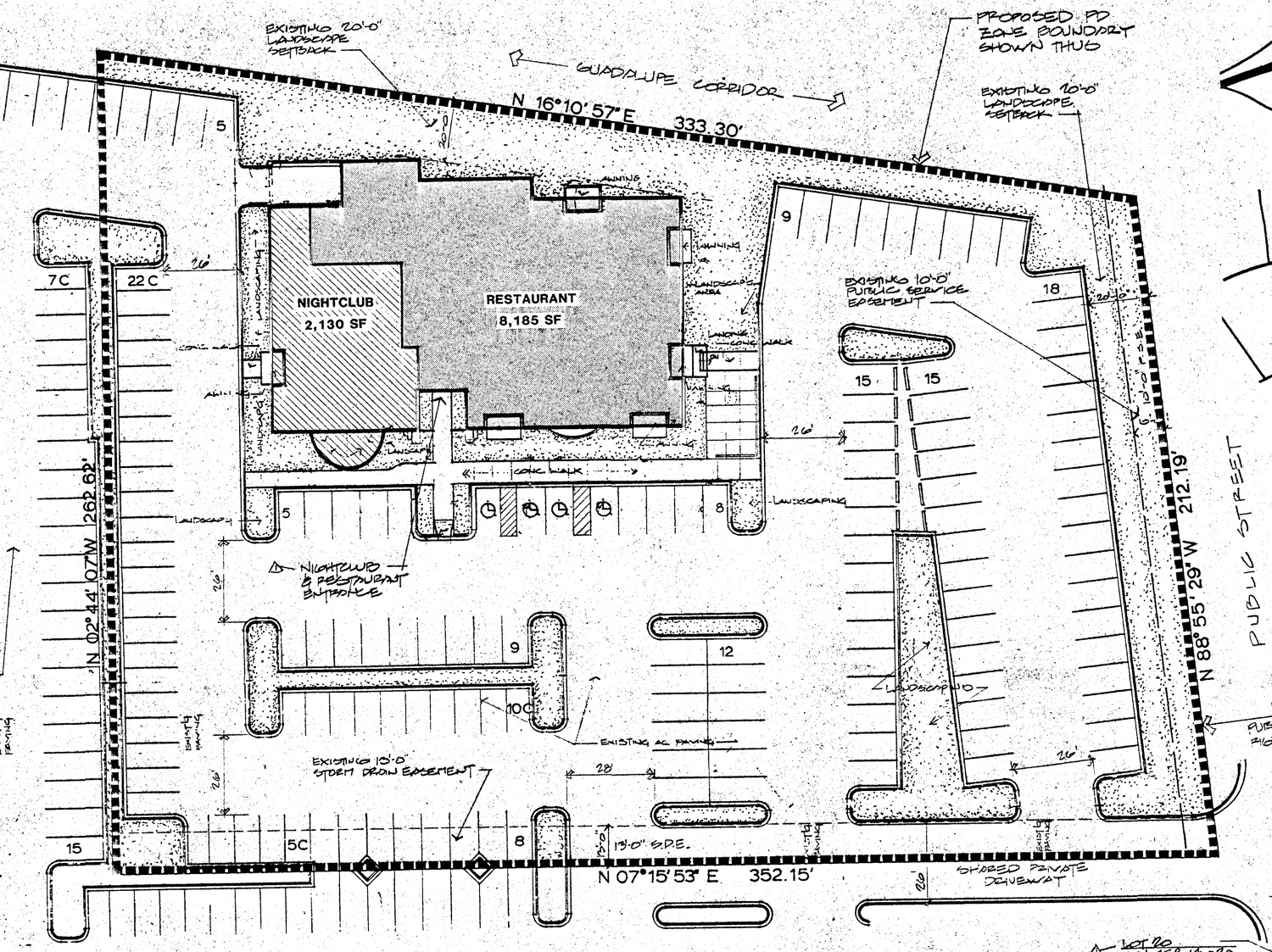 1007 Blossom Hill Road, site plan by Douglas G Young Architect for circa 1995