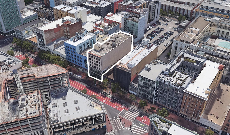 1049 Market Street, image via Google Satellite