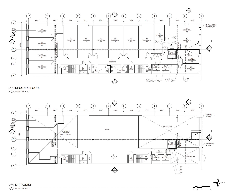 1049 Market Street proposed floor plan, elevation by Garavaglia Architecture