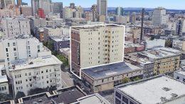 1075 Sutter Street, image via Google Satellite