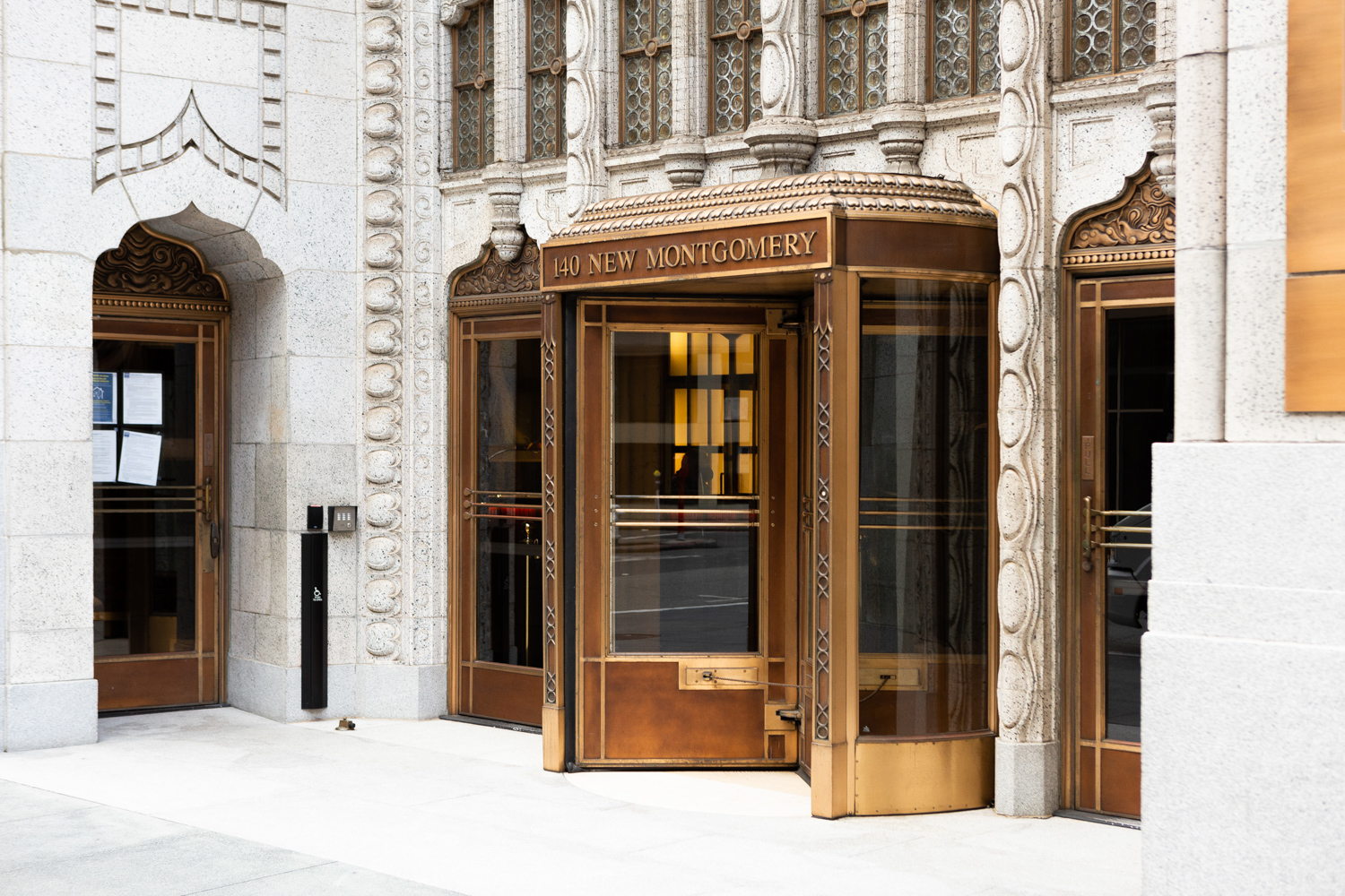 140 New Montgomery Street lobby entrance, image by Andrew Campbell Nelson