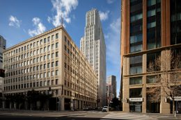 140 New Montgomery Street from Howard Street, image by Andrew Campbell Nelson