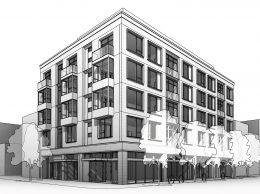 2101 Lombard Street hero view, rendering by Kerman Morris Architects