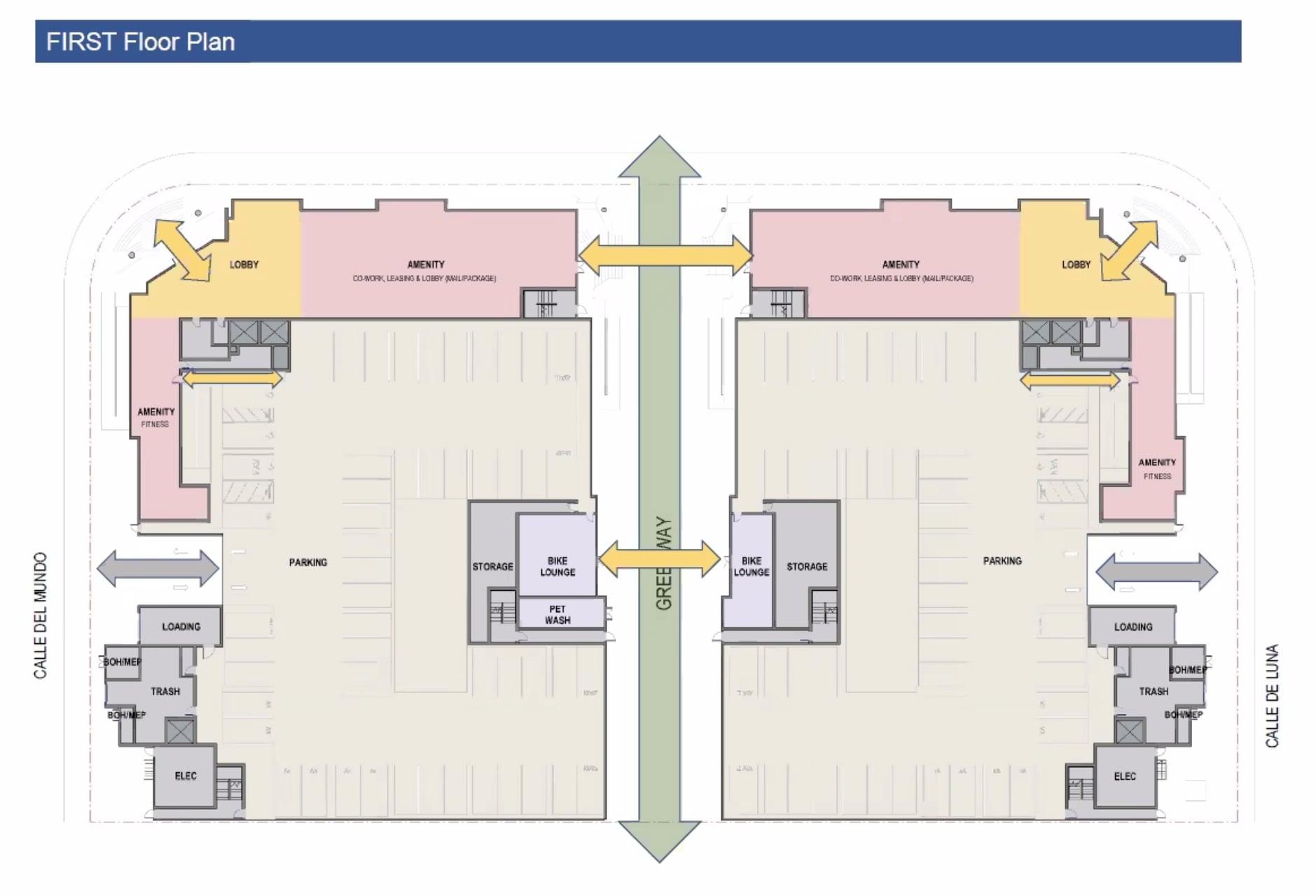 2225 Calle De Luna First Floor Plan
