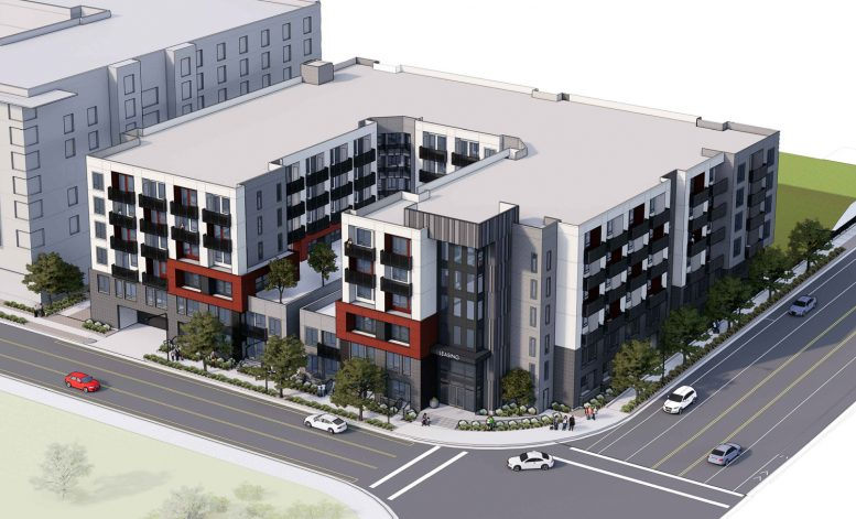 2233 Calle del Mundo aerial view, rendering by KTGY Architects
