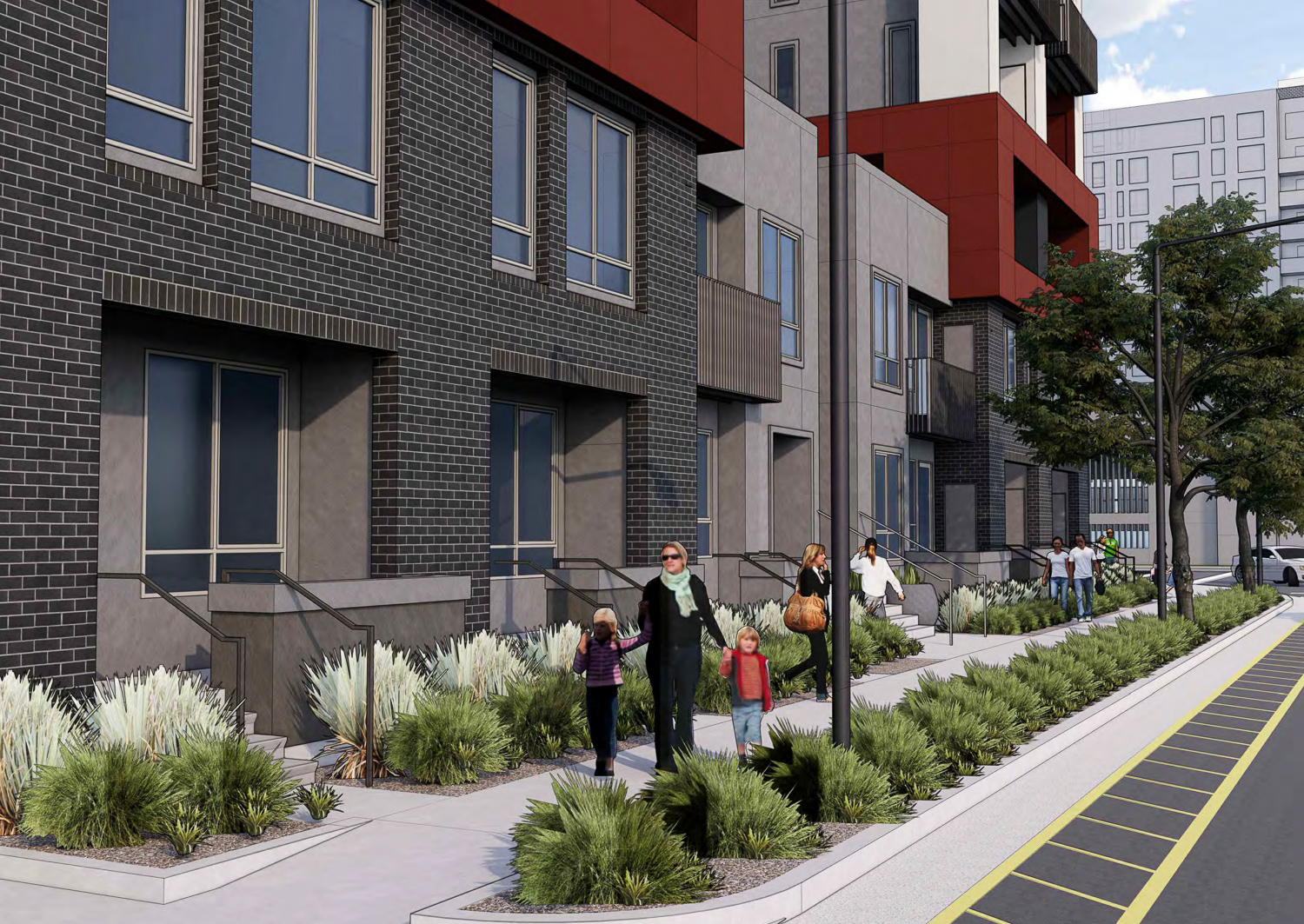 2233 Calle del Mundo frontage facing east, rendering by KTGY Architects