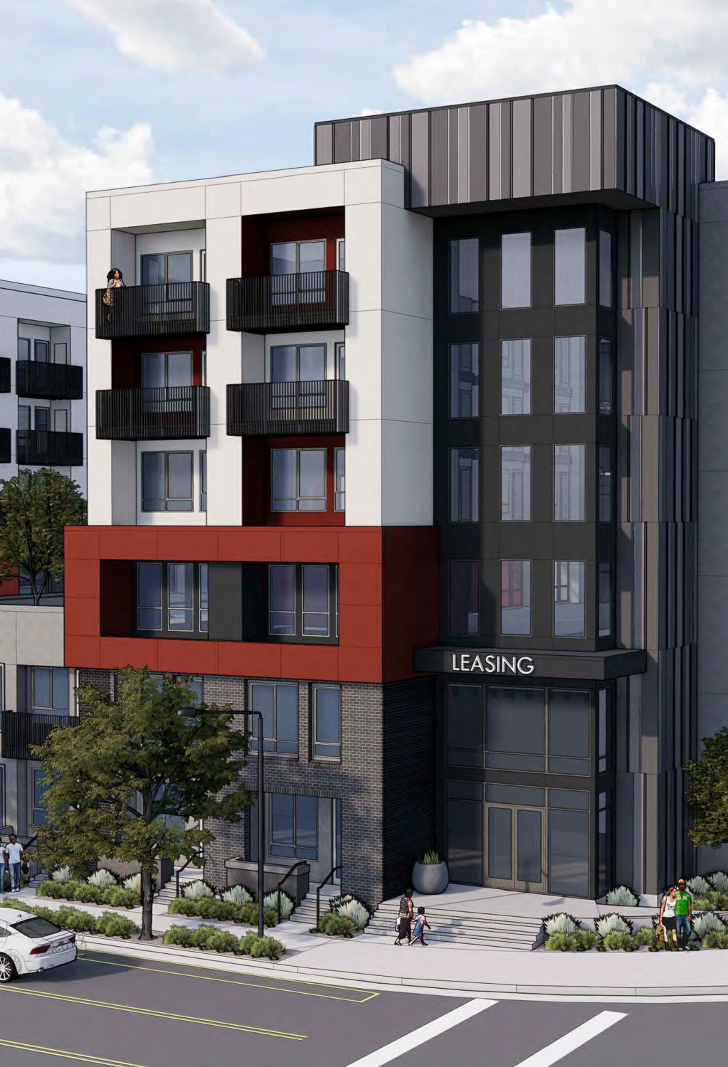 2233 Calle del Mundo southeast corner, rendering by KTGY Architects