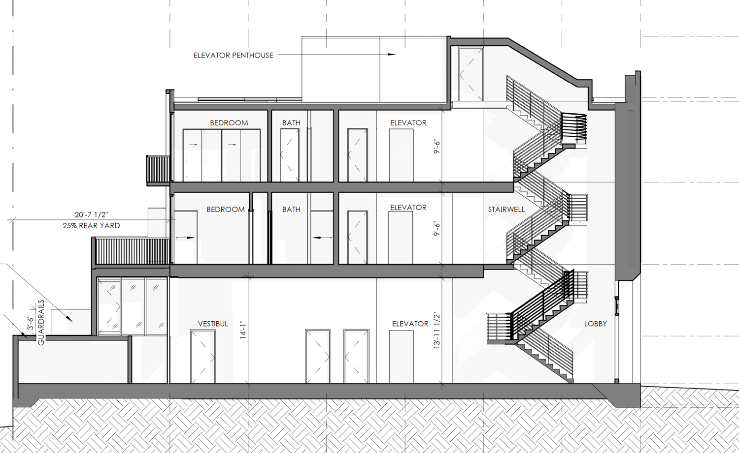 2453 Sacramento Street vertical elevation, rendering by Thousand Architects