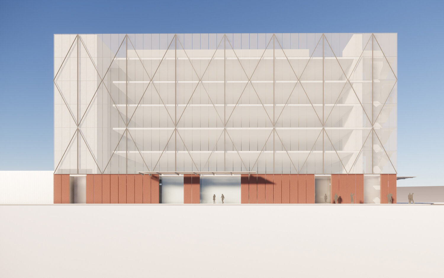 2800 3rd Street elevation of work by L37 Partners with SOM, illustration by L37 Partners