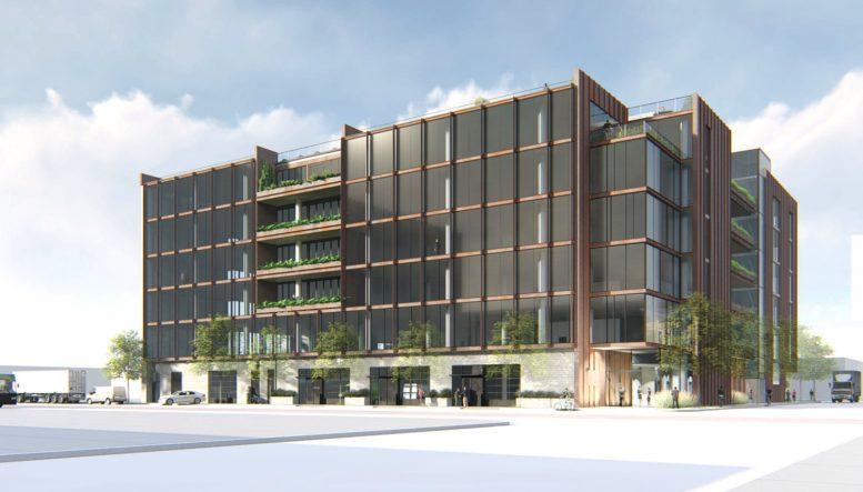 2800 Third Street establishing view, rendering by Perkins&Will