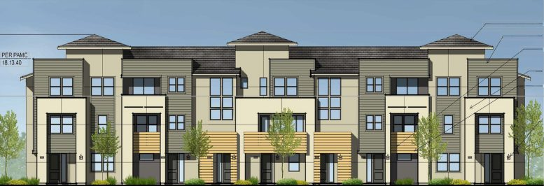 2850 West Bayshore Road Building 3 front elevation, drawing by SDG Architects